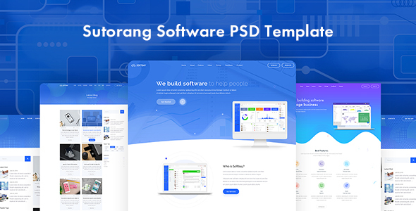 Sutorang | Software Landing PSD Template
