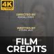 Film Credits 4K - VideoHive Item for Sale