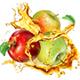 Apple Splashes Juice - GraphicRiver Item for Sale