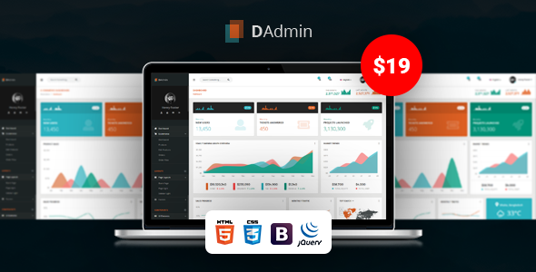 DAdmin - Responsive Bootstrap Admin Dashboard