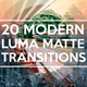 20 Modern Luma Matte Transitions - VideoHive Item for Sale