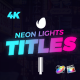 Neon Lights Titles for Final Cut Pro X - VideoHive Item for Sale