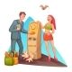 Vector Cartoon Man at Bitcoin ATM - GraphicRiver Item for Sale