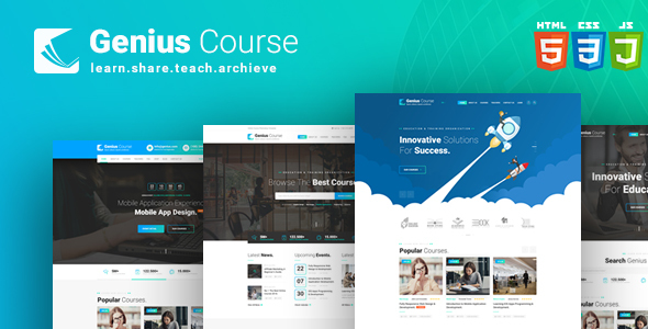 Genius Course - School Classes Institute HTML Template
