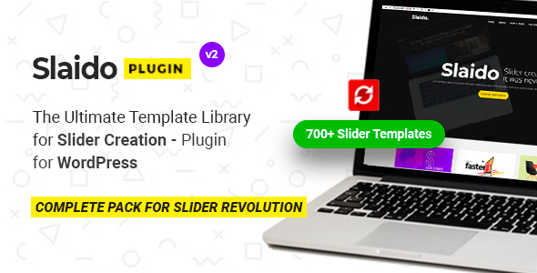 Slaido - Template Pack for Slider Revolution WordPress Plugin Download
