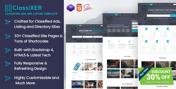 ClassiXER - Classified Ads and Listing Website Template