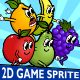 5 Fruit Monsters 2D Game Character Sprite - GraphicRiver Item for Sale