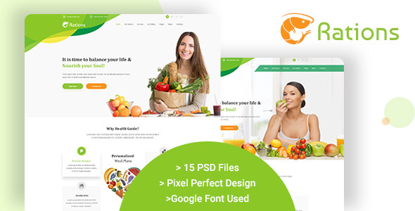 Ration PSD - Weight Loss | Nutrition Health Care & Diet Template