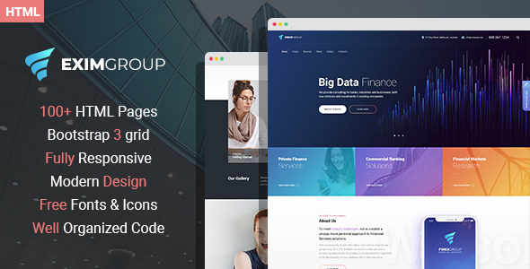 EximGroup – Finance And Business HTML Template