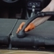 Man Cleans Car Interior with Vacuum Cleaner - VideoHive Item for Sale