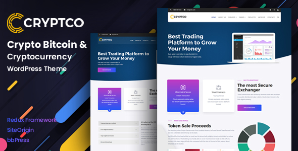 Cryptco - Cryptocurrency &  Saas Landing Page WordPress Theme