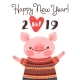 Happy 2019 New Year Card - GraphicRiver Item for Sale