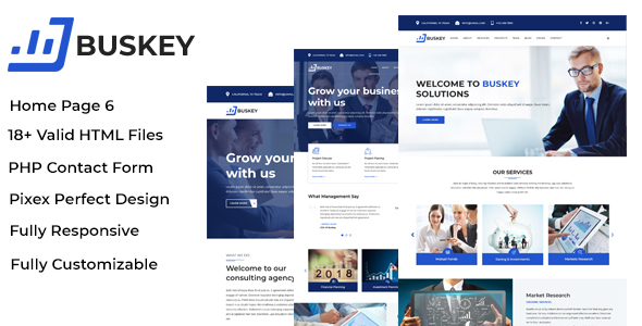 Buskey - Business Consulting and Corporate Template