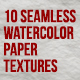 10 Seamless Watercolor Paper Texture - GraphicRiver Item for Sale