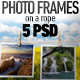 Photo-Image Frames on a Rope Photoshop Mock-ups - GraphicRiver Item for Sale