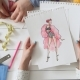 Small Team of Fashion Designers Choosing Sketches for the New Dress - VideoHive Item for Sale