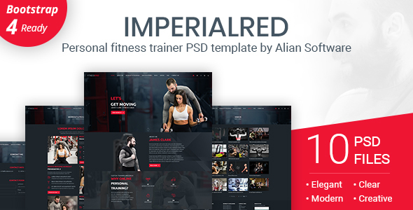 Imperialred - Personal Trainer Website PSD Template
