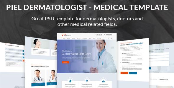 Piel - Dermatologist Medical PSD Template