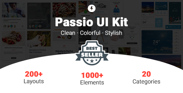 Passio - Huge Layout Collection and UI Kit Library for Web & App Design