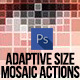 Adaptive Size Mosaic Tiles Photoshop Actions - GraphicRiver Item for Sale