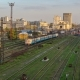The Building of the Southern Railway Station and the Trains on Platforms Against  Kharkiv, Ukraine - VideoHive Item for Sale