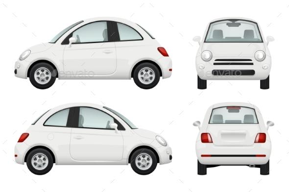 Passenger Car. Different View Realistic