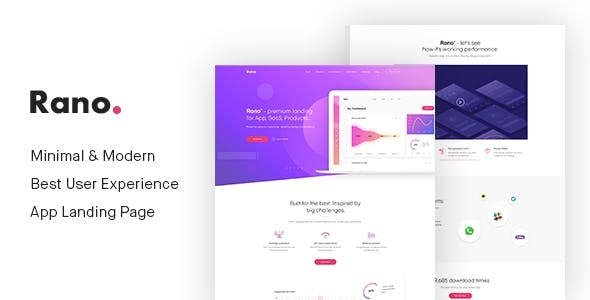 Rano - Landing Page HTML Template