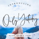 Only Yesterday Hand-drawn Font - GraphicRiver Item for Sale