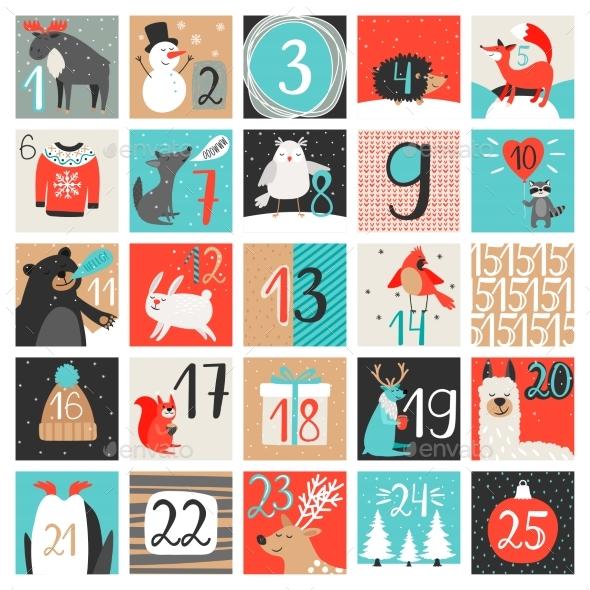 Advent Calendar December Countdown