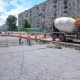 Concrete Works for Road Maintenance Construction with Many Workers and Mixer - VideoHive Item for Sale
