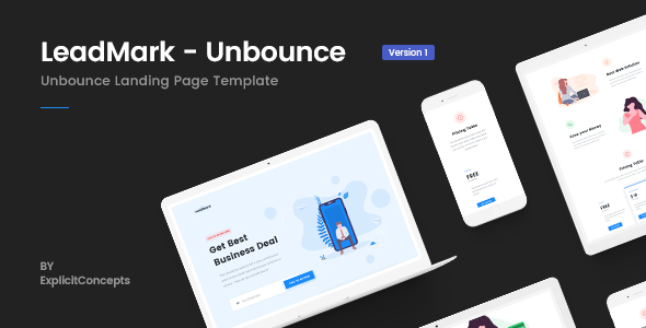 LeadMark - Lead Generation Unbounce Landing Page Template
