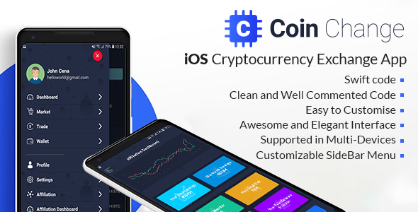 Coin change - iOS Cryptocurrency Exchange Template
