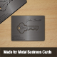 Metal Key Business Card - GraphicRiver Item for Sale