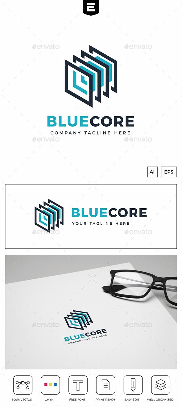 Blue Core Data Logo