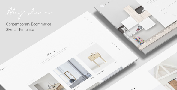 Majestica - A Contemporary Ecommerce Sketch Template