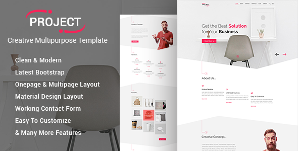 Project – Creative Multipurpose Template