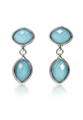Blue Gemstone Cushion Cut Dangle Earrings - PhotoDune Item for Sale