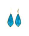 Blue Opal sapphire Fashion Drop Earrings with diamonds - PhotoDune Item for Sale