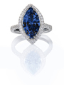 Blue Sapphire Beautiful Diamond Engagement ring. Gemstone Marquise cut  - PhotoDune Item for Sale