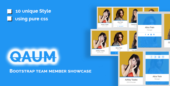 Qaum - Bootstrap Team Member Showcase