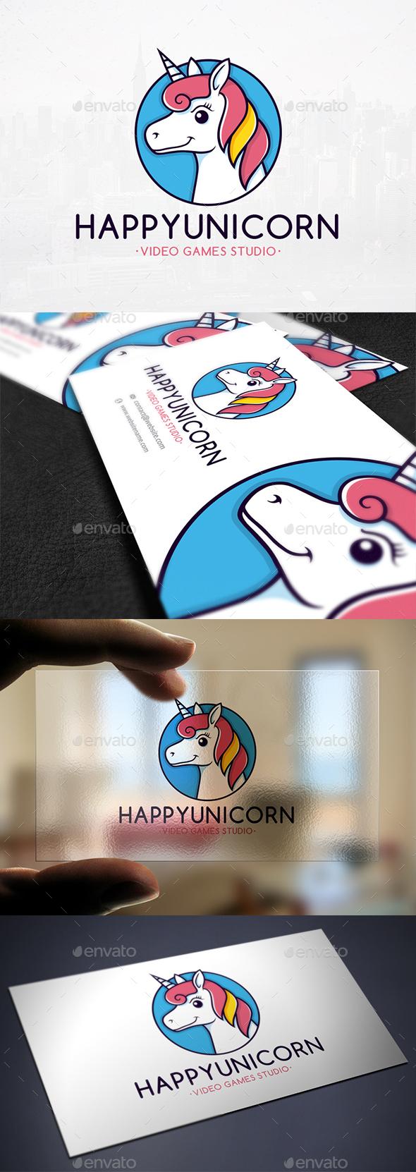 Colorful Unicorn Logo Template