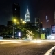 Night City Traffic. Heavy Traffic Flowing with Blurred Motion - VideoHive Item for Sale