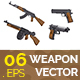 6 Weapon Vector Illustrations - GraphicRiver Item for Sale