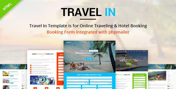 Travel In – Tour, Hotel & Air Tickets Landing HTML Template