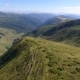 Aerial Shot of Long Carpathian Ridges with Steep Green Slopes in Summer - VideoHive Item for Sale