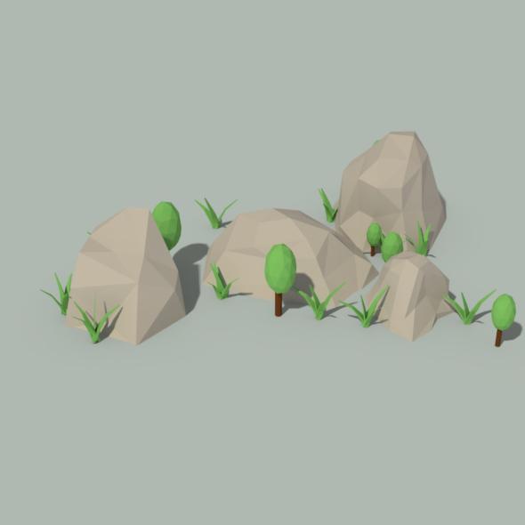 3D Shrub & Grass Models from 3DOcean