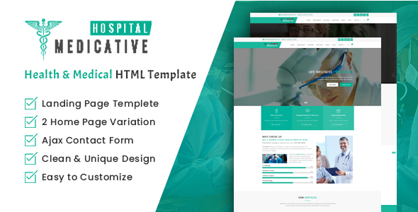 Medicative Hospital – Health and Medical HTML Template