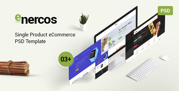 Enercos - Single Product eCommerce PSD Template