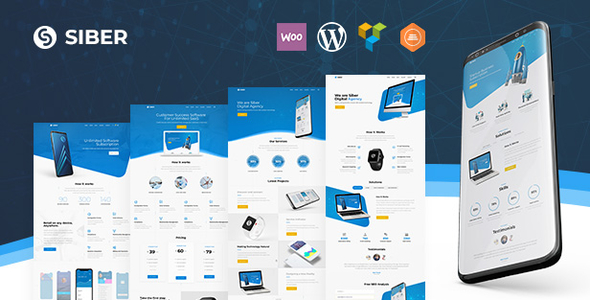 Siber - SaaS, Software & Mobile App WordPress