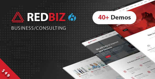 RedBiz - Business & Consulting Multi-Purpose Drupal 8.7 Theme